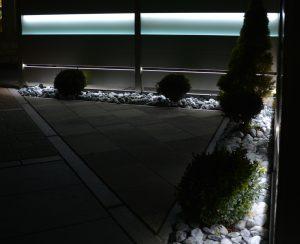 Zaunlösung mit LED-Beleuchtung